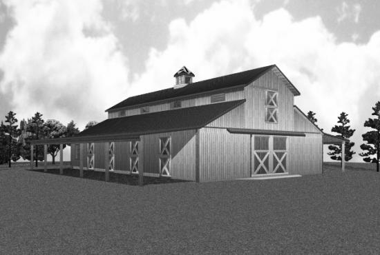 Barns and buildings quality barns and buildings horse for Monitor style barn plans
