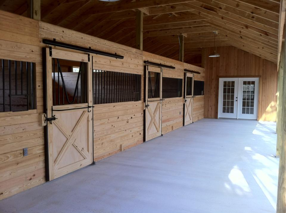 services horse stall design ideas services homemade horse stall - Horse Barn Design Ideas