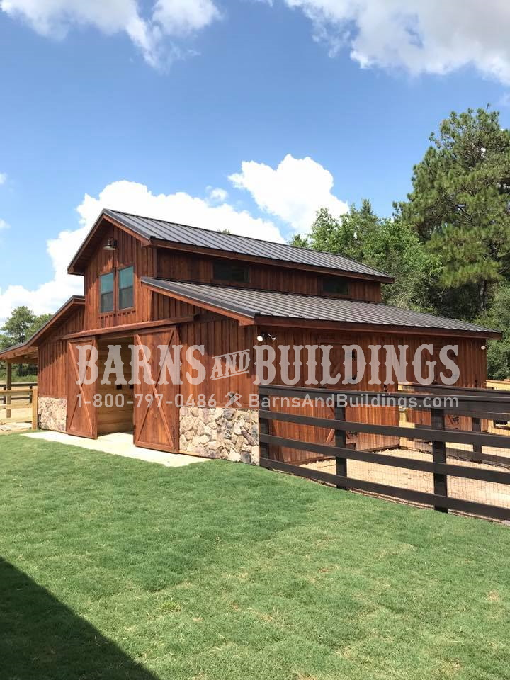 Tomball Texas Western Raised Center Barn