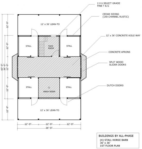 Custum Horse Barn Floor Plans Joy Studio Design Gallery