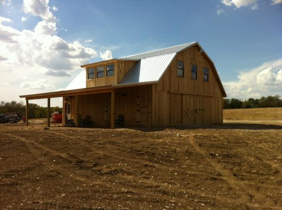 Barns and buildings quality barns and buildings horse barns all wood quality custom wood - Gambrel pole barns style ...