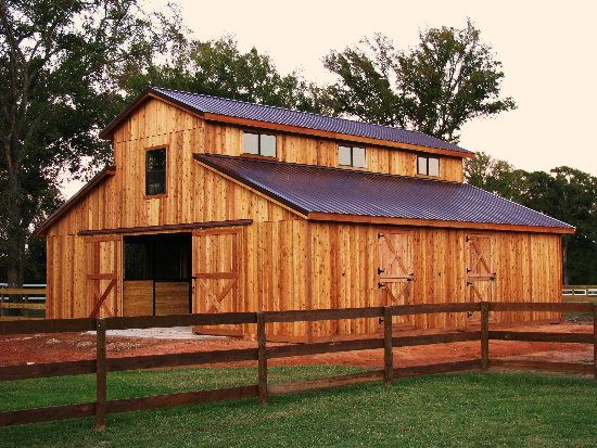 Diy wood design shed plans metal for Wood barn homes