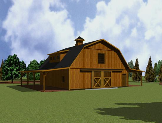 Download gambrel barn designs plans free for Wood barn homes