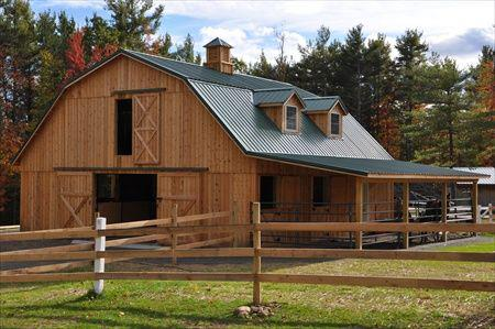 Barns and buildings quality barns and buildings horse for Gambrel barn homes kits