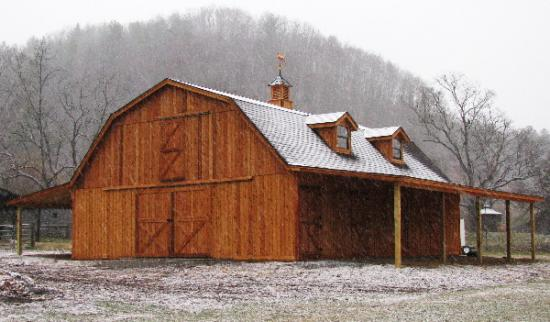 4 stall barn with live in quarters joy studio design for Gambrel barn plans with living quarters