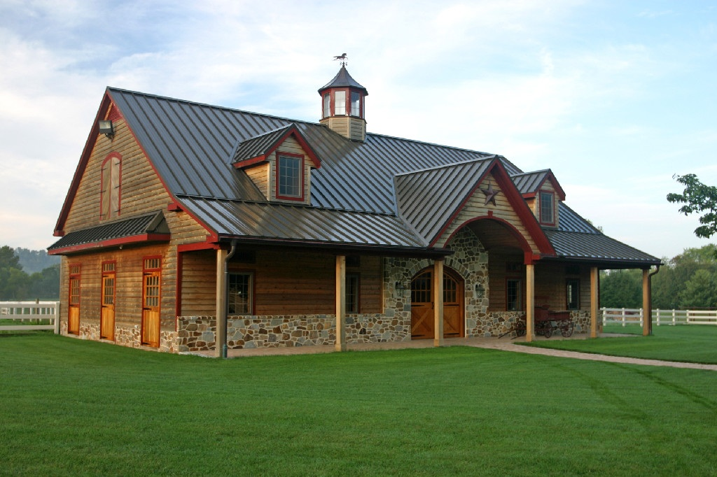 Barns and buildings quality barns and buildings horse barns all wood quality custom wood - Barn house decor ...